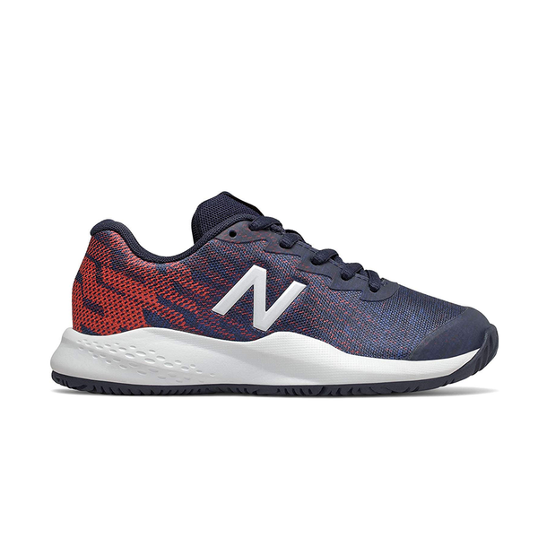 New Balance 996V3 (Junior) - Red/Navy Blue-Footwear- Canada Online Tennis Store Shop