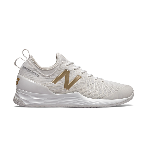 New Balance Fresh Foam Lav D (Men's) - White/Gold-Footwear- Canada Online Tennis Store Shop