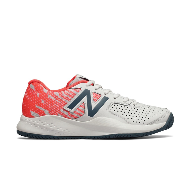 New Balance Leather 696V3 B (Women's) - White/Mango-Footwear- Canada Online Tennis Store Shop