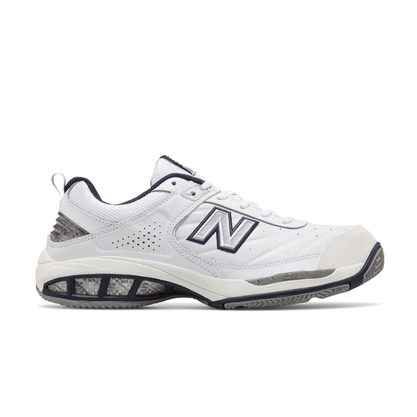 New Balance 806 W 2E (Men's) - White/Navy-Footwear- Canada Online Tennis Store Shop