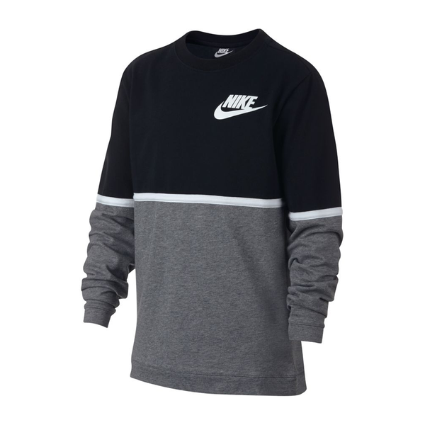 Nike Advance Crew (Boy's) - Black/Gunsmoke/White-Tops- Canada Online Tennis Store Shop