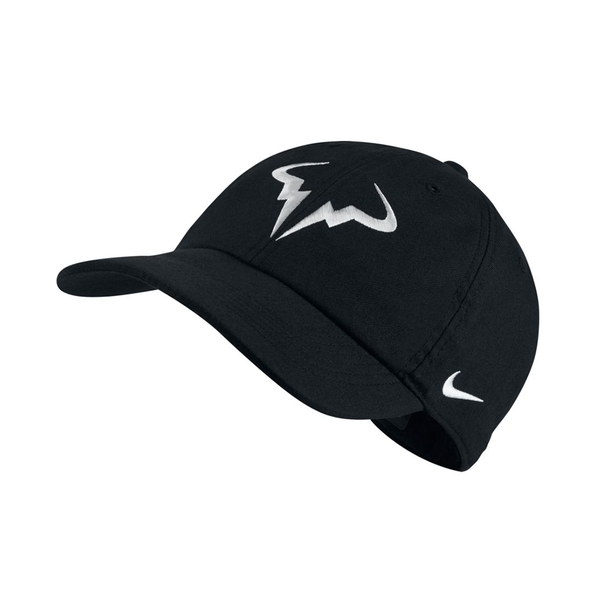Nike AeroBill Heritage86 Rafa Hat - Black/White-Hats- Canada Online Tennis Store Shop