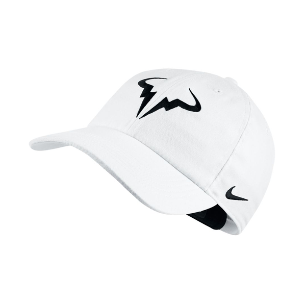 Nike AeroBill Heritage86 Rafa Hat - White/Black-Hats- Canada Online Tennis Store Shop