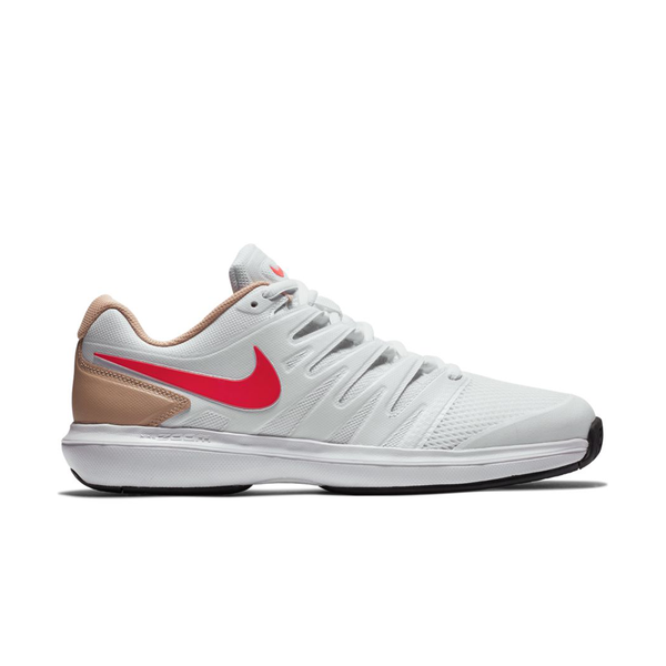 Nike Air Zoom Prestige (Men's) - White/Crimson/Bio Beige-Footwear- Canada Online Tennis Store Shop