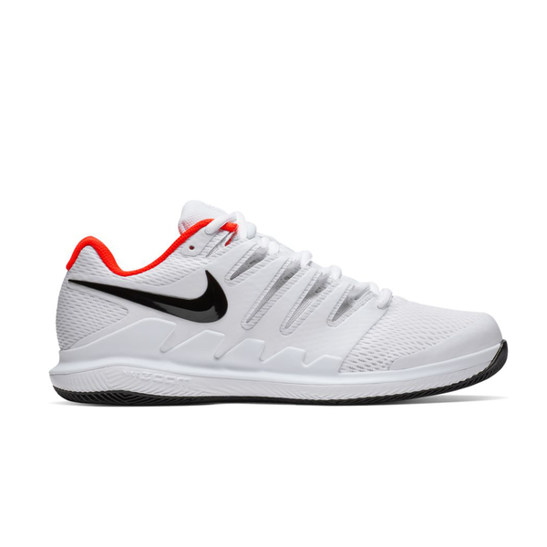 Nike Air Zoom Vapor X (Men's) - White/Black/Bright Crimson-Footwear- Canada Online Tennis Store Shop