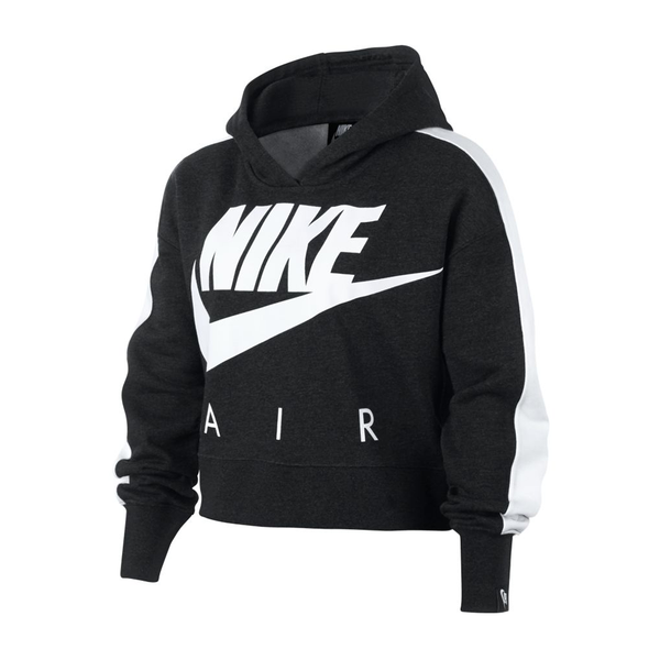 Nike Big Kids' Cropped Hoodie (Girl's) - Black-Tops- Canada Online Tennis Store Shop