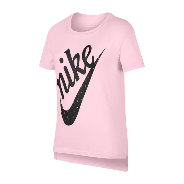 Nike Big Kids' Graphic T-Shirt (Girl's) - Pink Foam-Tops- Canada Online Tennis Store Shop