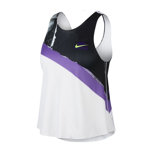 Nike Court 2-in-1 Tennis Tank (Women's) - White/Psychic Purple/Black/Volt-Tops- Canada Online Tennis Store Shop