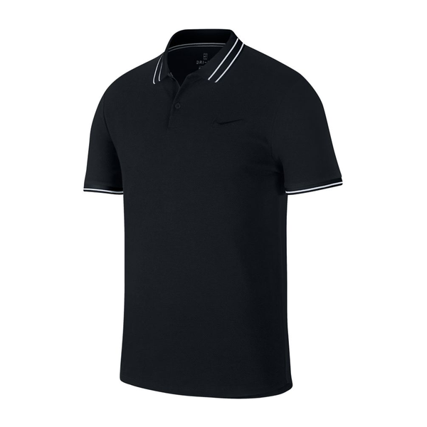 Nike Court Advantage Polo (Men's) - Black/White-Tops- Canada Online Tennis Store Shop