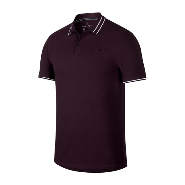 Nike Court Advantage Polo (Men's) - Burgundy Ash-Tops- Canada Online Tennis Store Shop