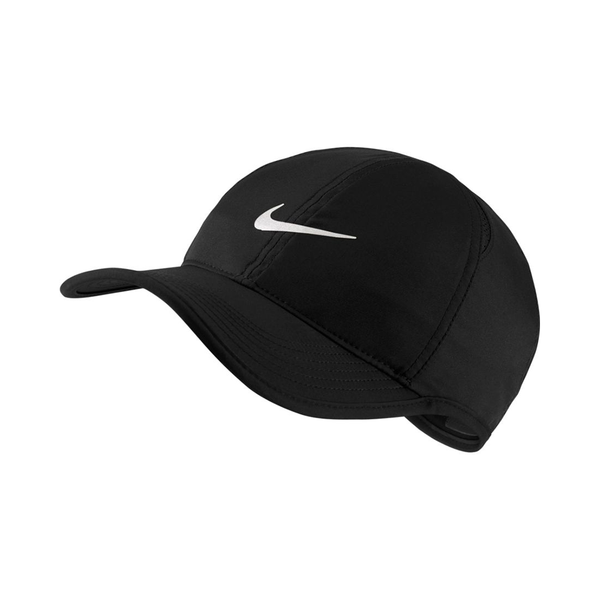 Nike Court AeroBill Featherlight Tennis Cap - Black/White-Hats- Canada Online Tennis Store Shop