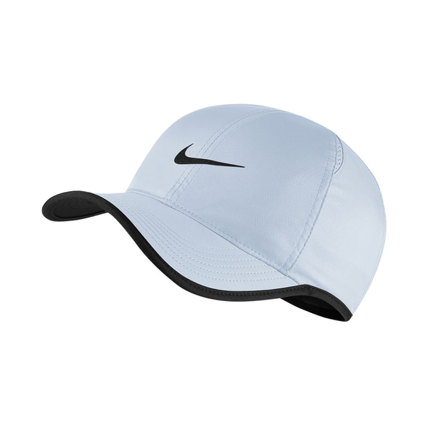 Nike Court Aerobill Featherlight Tennis Cap - Half Blue/Black-Hats- Canada Online Tennis Store Shop