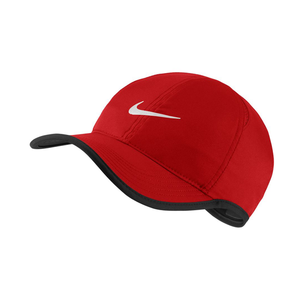 Nike Court Aerobill Featherlight Tennis Cap - University Red/Black-Hats- Canada Online Tennis Store Shop