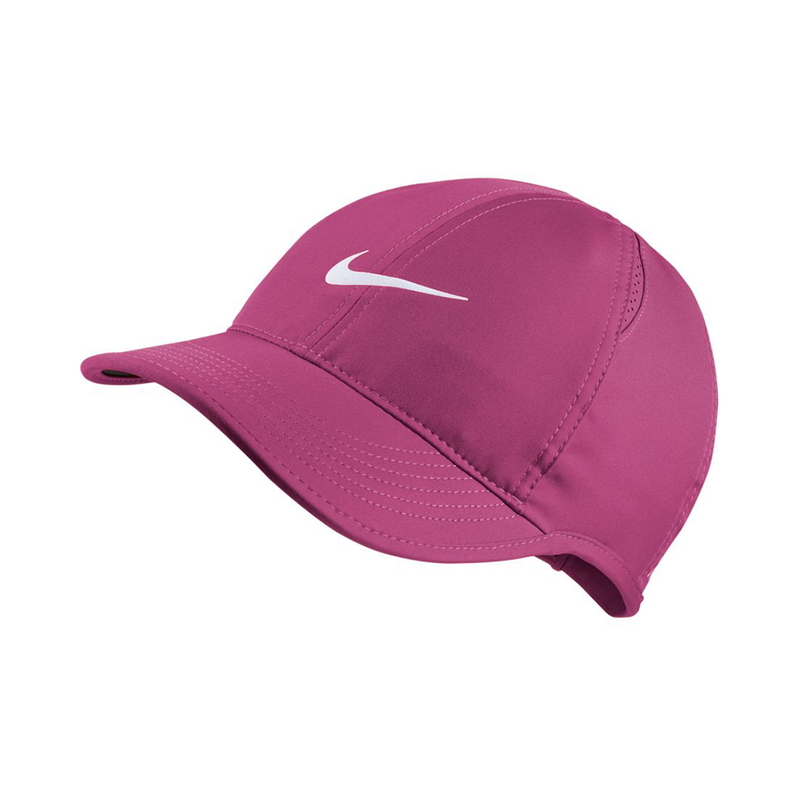 Nike Court AeroBill Featherlight Tennis Cap (Women's Fit) - Active Fuchsia/White-Hats- Canada Online Tennis Store Shop