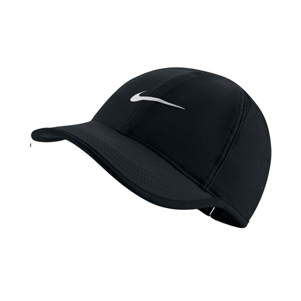 Nike Court AeroBill Featherlight Tennis Cap (Women's Fit) - Black/White-Hats- Canada Online Tennis Store Shop