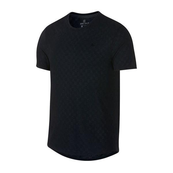 Nike Court Checkered Challenger Top (Men's) - Black-Tops- Canada Online Tennis Store Shop
