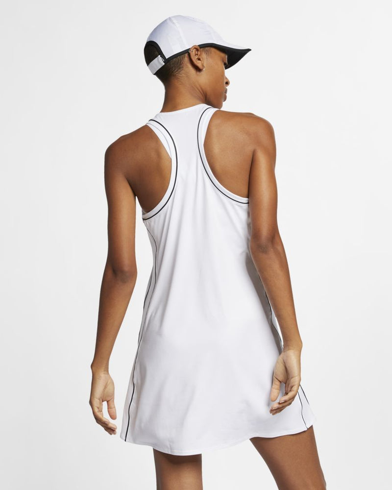 Nike Court Dress (Women's) - White/Black-Dresses- Canada Online Tennis Store Shop