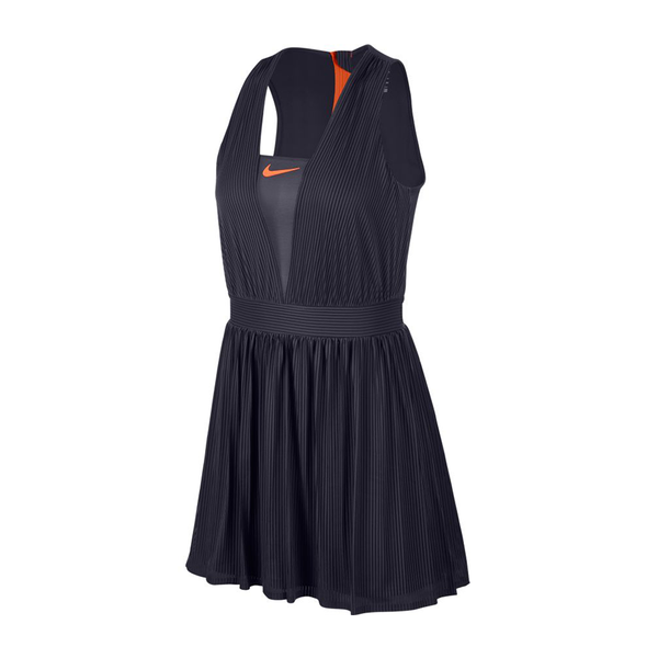 Nike Court Dri-Fit Maria Dress (Women's) - Gridiron/Hyper Crimson-Dresses- Canada Online Tennis Store Shop