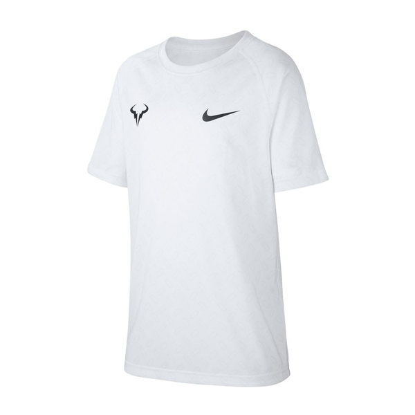 Nike Court Dri-Fit Rafa Graphic T-Shirt (Boy's) - White-Tops- Canada Online Tennis Store Shop