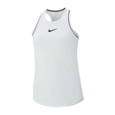 Nike Court Dri-Fit Tank (Girl's) - White/Black-Tops- Canada Online Tennis Store Shop