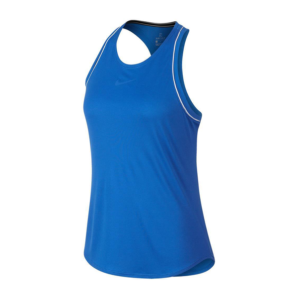 Nike Court Dri-Fit Tank (Women's) - Indigo Force/White-Tops- Canada Online Tennis Store Shop