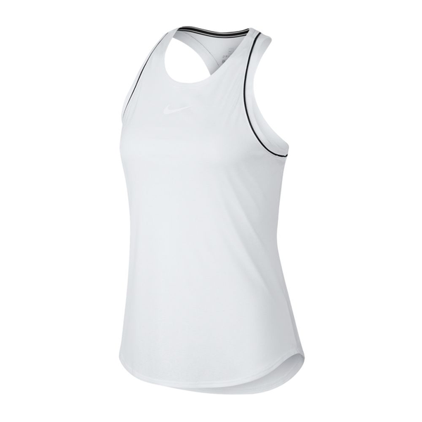 Nike Court Dri-Fit Tank (Women's) - White/Black-Tops- Canada Online Tennis Store Shop
