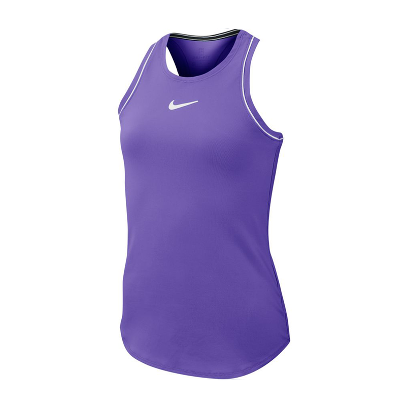 Nike Court Dri-Fit Tennis Tank (Girl's) - Psychic Purple/White-Tops- Canada Online Tennis Store Shop