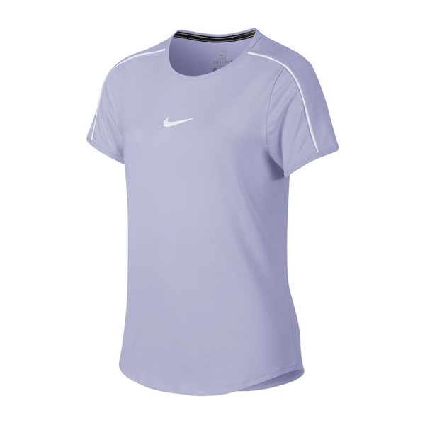 Nike Court Dri-Fit Top (Girl's) - Oxygen Purple/White-Tops- Canada Online Tennis Store Shop