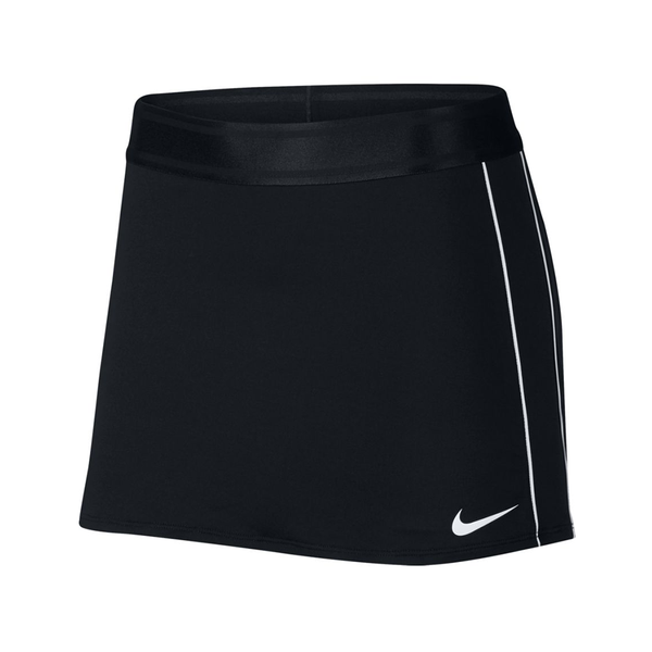 Nike Court Dry Skirt (Women's) - Black/White-Bottoms- Canada Online Tennis Store Shop