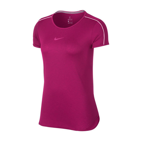 Nike Court Dry Top (Women's) - True Berry/White-Tops- Canada Online Tennis Store Shop