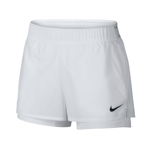 Nike Court Flex Short (Women's) - White-Bottoms- Canada Online Tennis Store Shop