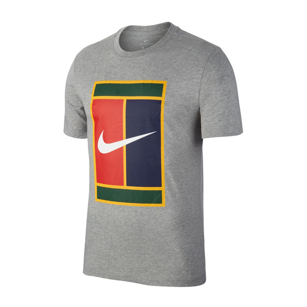 Nike Court Heritage T-Shirt (Boy's) - Grey-Tops- Canada Online Tennis Store Shop