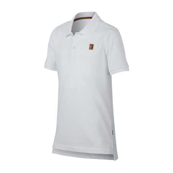 Nike Court Heritage Tennis Polo (Boy's) - White-Tops- Canada Online Tennis Store Shop