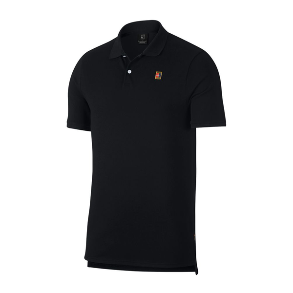 Nike Court Heritage Tennis Polo (Men's) - Black-Tops- Canada Online Tennis Store Shop