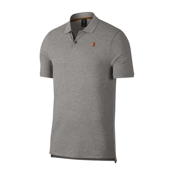 Nike Court Heritage Tennis Polo (Men's) - Heather Grey-Tops- Canada Online Tennis Store Shop