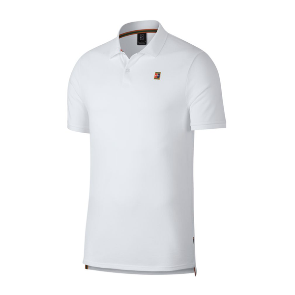 Nike Court Heritage Tennis Polo (Men's) - White-Tops- Canada Online Tennis Store Shop