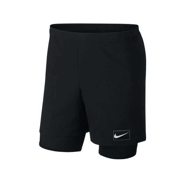 Nike Court Pro Ace Shorts (Men's) - Black/Black/White-Bottoms- Canada Online Tennis Store Shop