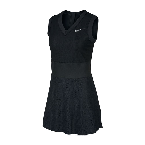 Nike Court Slam Dress (Women's) - Black-Dresses- Canada Online Tennis Store Shop