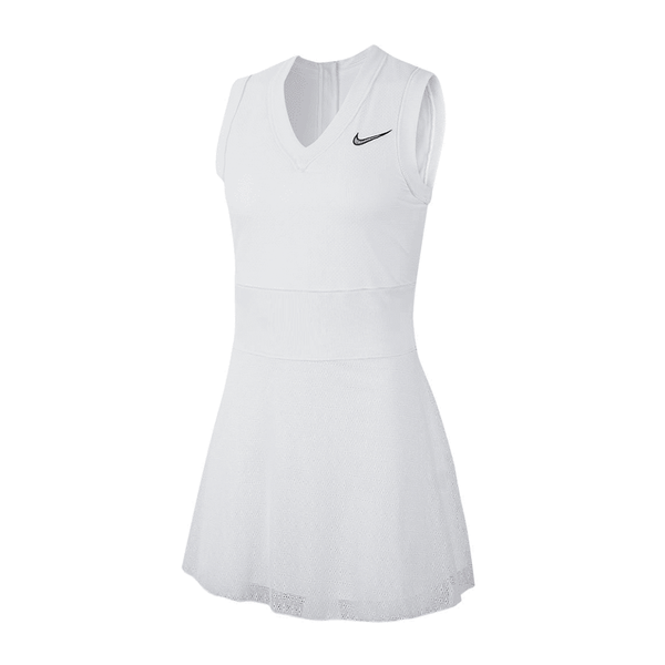 Nike Court Slam Dress (Women's) - White-Dresses- Canada Online Tennis Store Shop