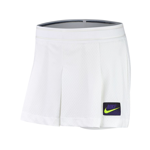 Nike Court Slam Tennis Short (Women's) - White/Black/Purple/Volt-Bottoms- Canada Online Tennis Store Shop