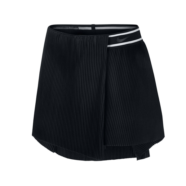 Nike Court Slam Tennis Skirt (Women's) - Black-Bottoms- Canada Online Tennis Store Shop