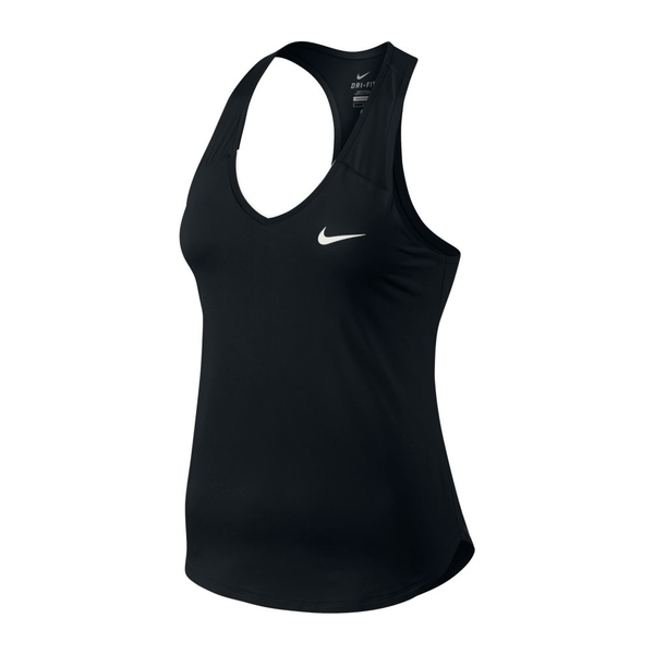 Nike Court Team Pure Tank Top (Women's) - Black-Tops- Canada Online Tennis Store Shop