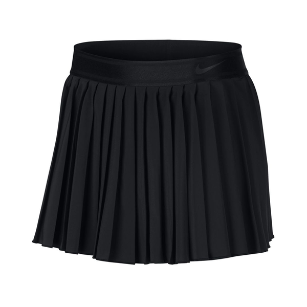 Nike Court Victory Tennis Skirt (Women's) - Black/Black-Bottoms- Canada Online Tennis Store Shop