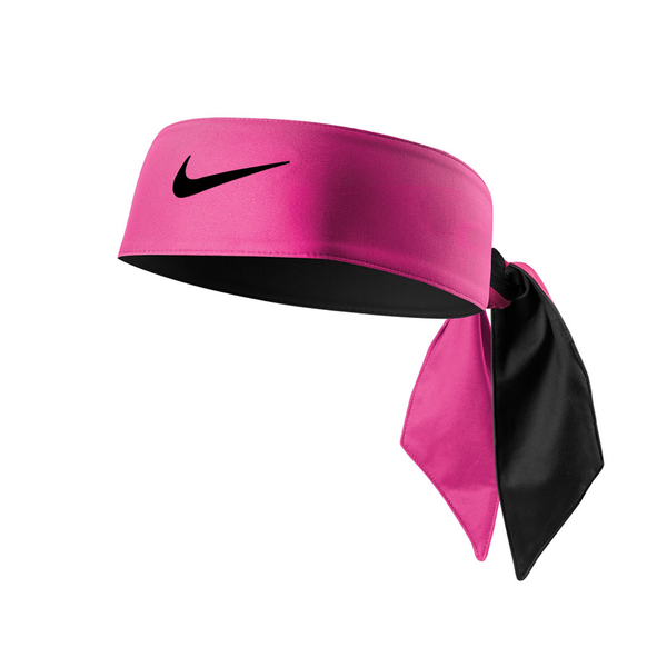 Nike Dri-Fit Head Tie Reversible - Pink/Black-Headbands- Canada Online Tennis Store Shop
