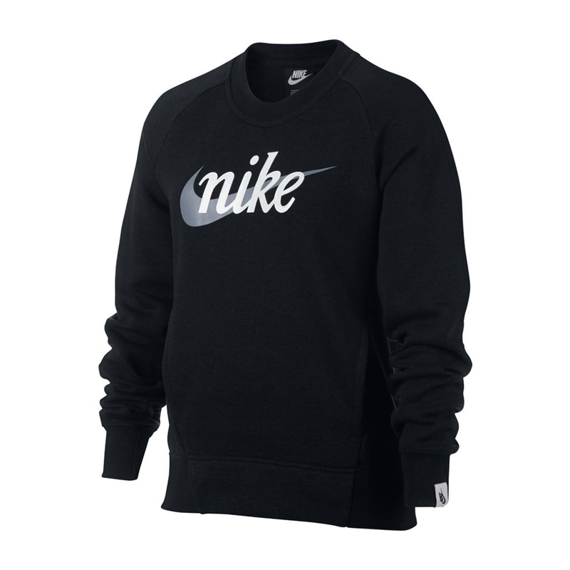 Nike Graphic Crew (Girl's) - Black-Tops- Canada Online Tennis Store Shop