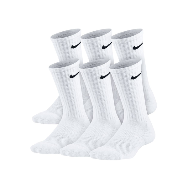 Nike Performance Cushioned Crew Socks 6-Pack (Junior) - White-Socks- Canada Online Tennis Store Shop