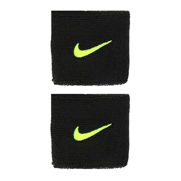 Nike Swoosh Wristbands - Black/Volt-Wristbands- Canada Online Tennis Store Shop