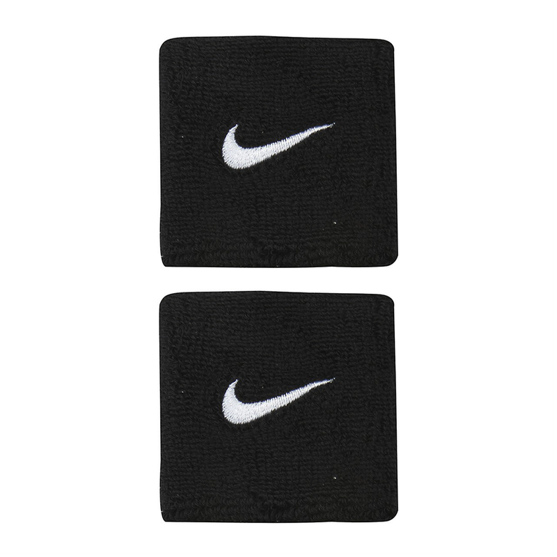 Nike Swoosh Wristbands - Black/White-Wristbands- Canada Online Tennis Store Shop