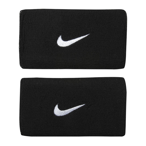 Nike Swoosh Wristbands Doublewide - Black/White-Wristbands- Canada Online Tennis Store Shop