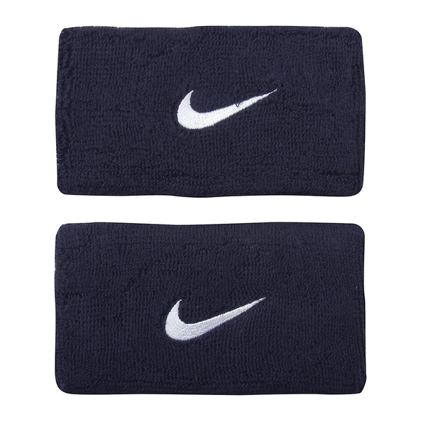 Nike Swoosh Wristbands Doublewide - Navy/White-Wristbands- Canada Online Tennis Store Shop